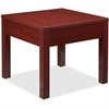 "Lorell Occasional Corner Table - Square Top - Square Leg Base - 24"" Table Top Length x 24"" Table Top Width x 1"" Table Top Thickness - 20"" Height x 23.88"" Width x 23.88"" Depth - Assembly Required - Mah"