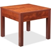 "Lorell Occasional Corner Table - Square Top - Square Leg Base - 24"" Table Top Length x 24"" Table Top Width x 1"" Table Top Thickness - 20"" Height x 23.88"" Width x 23.88"" Depth - Assembly Required - Che"