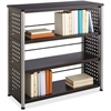 "Safco Scoot Contemporary Design Bookcase - 36"" x 15.5"" x 36"" - 3 Shelve(s) - Material: Steel, Particleboard - Finish: Black, Laminate, Powder Coated"