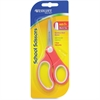 "Westcott Soft Handle 5"" Kids Value Scissors - 5"" Overall Length - Blunted - Left/Right - Plastic, Stainless Steel - Assorted"