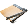 "Westcott TrimAir Wood Guillotine Paper Trimmer - Cuts 30Sheet - 18"" Cutting Length - 3.5"" Height x 14.3"" Width x 26.6"" Depth - Wood Base, Titanium Blade - Transparent, Walnut"