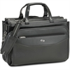 "Solo Carrying Case (Briefcase) for 16"" Notebook, Business Card, Accessories, Pen, File Folder - Black - Shoulder Strap, Handle - 12"" Height x 17"" Width x 8"" Depth"