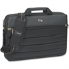 "Solo Carrying Case (Briefcase) for 15.6"" Notebook - Black, Tan - Handle, Shoulder Strap - 11"" Height x 15.8"" Width x 2"" Depth"