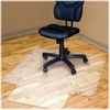 "Advantus Hard Floor Recycled Chairmat with Lip - Hard Floor, Hardwood Floor, Vinyl Floor, Tile Floor - 45"" Width x 53"" Depth - Polyethylene Terephthalate (PET) - Transparent"