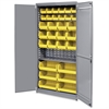 "Akro-Mils AkroBin Storage Cabinet - 12 Compartment(s) - Compartment Size 5"" x 5.50"" x 10.88"" - 78"" Height x 36"" Width x 19"" Depth - Floor - Gray - Steel - 1Each"