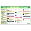 "Impact Products Safety Data Sheet English Poster - Safety - 32"" Width x 20"" Height - Assorted"