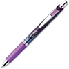 EnerGel Deluxe RTX Liquid Gel Pen - Fine Point Type - 0.5 mm Point Size - Needle Point Style - Refillable - Violet Gel-based Ink - Stainless Steel Barrel - 1 Each