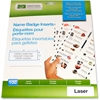 "Imprint Plus Laser/Inkjet Badge Insert - 3"" x 1"" - 100 / Pack - Clear"