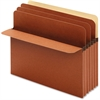 "Pendaflex Full Top Tab Redrope Divider Pockets - Letter - 8 1/2"" x 11"" Sheet Size - 5 1/4"" Expansion - 3 Divider(s) - Tyvek - Redrope - 10 / Box"