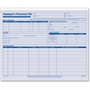 "Adams Employee Personnel File Folder - 1 Sheet(s) - 150 lb - 11.75"" x 9.50"" Sheet Size - Blue Print Color - 20 / Pack"