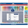 Staedtler Triplus Fineliner Pens - Super Fine Point Type - 0.3 mm Point Size - Assorted Water Based Ink - Polypropylene Barrel - 20 / Pack