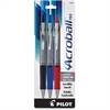 Acroball Pro Advanced Ink Ballpoint Pen - Medium Point Type - 1 mm Point Size - Refillable - Assorted Advanced Ink Ink - Silver Barrel - 3 / Pack