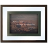 Dax Nature Quotes Motivational Prints Frame - Desktop, Wall Mountable - Wood, Glass - Black