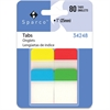 "Sparco 1"" Durable Tabs - Write-on - Assorted - 80 / Pack"