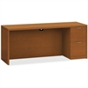 "HON Valido Series Bourbon Cherry Laminate Desking - 72"" x 24"" x 29.5"" - 2 x File Drawer(s) - Single Pedestal on Right Side - Ribbon Edge - Material: Particleboard - Finish: Laminate, Bourbon Cherry"