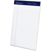 "Ampad Gold Fibre Med. Ruled Prem. Jr. Legal Pads - 50 Sheets - Watermark - Stapled/Glued - 5"" x 8"" - White Paper - 4 / Pack"