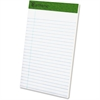 "TOPS Recycled Perforated Jr. Legal Rule Pads - 50 Sheets - Printed - 15 lb Basis Weight - 5"" x 8"" - Recycled"