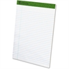 "TOPS Recycled Perforated Pads - 50 Sheets - Printed - 15 lb Basis Weight - 8.50"" x 11.75"" - Recycled"