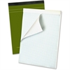 """Ampad Gold Fibre Premium Quad Ruled Pad - 80 Sheets - Printed - Wire Bound - Both Side Ruling Surface - 20 lb Basis Weight 8.50"""" x 11.75"""" - White Paper - Classic Green Cover - 80 / Pad"""