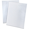 "Ampad Faint Blue Ink Quadrille Pads - 50 Sheets - Printed - Both Side Ruling Surface - 15 lb Basis Weight - Letter 8.50"" x 11"" - White Paper - Pressboard Cover - 50 / Pad"