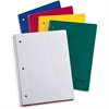 "Ampad Earthwise Recycled 3HP Notebooks - 80 Sheets - Printed - Wire Bound - 15 lb Basis Weight - Letter 8.50"" x 11"" - White Paper - Assorted Cover - Pressboard Cover - 1Each"