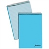 "Ampad Pastel Steno Notebook - 80 Sheets - Printed - Wire Bound - Front Ruling Surface - 20 lb Basis Weight 6"" x 9"" - Blue Paper - Blue Cover - 1Each"