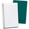 "Ampad Earthwise Oxford Recycled 1-Subj Notebook - 80 Sheets - Printed - Wire Bound 5"" x 8"" - White Paper - Green Cover - Kraft Cover - 1Each"