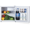 Lorell 1.6 cu.ft. Compact Refrigerator - 1.60 ft³ - Manual Defrost - Reversible - 0.06 ft³ Net Refrigerator Capacity - White - Steel, Plastic, Fiberglass