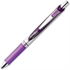 EnerGel Liquid Steel Tip Gel Pens - Medium Point Type - 0.7 mm Point Size - Refillable - Violet Gel-based Ink - Violet, Stainless Steel Barrel - 1 Dozen