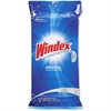 "Windex Original Glass & Surface Wipes - Wipe - Fresh Scent - 7"" Width x 10"" Length - 28 / Packet - 12 / Carton - White"