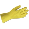 ProGuard Flock Lined Latex Gloves - Chemical Protection - Medium Size - Yellow - Embossed Grip, Flock-lined, Abrasion Resistant, Detergent Resistant, Acid Resistant, Alkali Resistant, Fat Resistant, O
