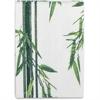 "Genuine Joe Bamboo Print Compostable Cloth - 10"" x 14"" - White, Brown, Green - Washable, Absorbent, Reusable - For Multipurpose - 432 / Carton"