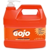 Gojo NATURAL* ORANGE Smooth Hand Cleaner - Citrus Scent - 1 gal (3.8 L) - Pump Bottle Dispenser - Soil Remover, Dirt Remover, Grease Remover - Hand - Orange - 4 / Carton
