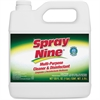 Spray Nine Cleaner/Degreaser - Liquid Solution - 1 gal (128 fl oz) - 4 / Carton - Clear