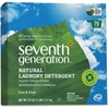 Seventh Generation 70-load Natural Laundry Detergent - Concentrate Powder - 112 oz (7 lb) - Free & Clear Scent - 4 / Carton - Clear