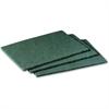 "Scotch-Brite Scrubbing Pads - 6"" Width x 9"" Depth - 60/Carton - Synthetic - Green"