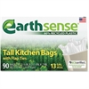 "Webster Earth Sense 13-gal Tall Kitchen Bags - Medium Size - 13 gal - 23.50"" Width x 29.75"" Length x 0.70 mil (18 Micron) Thickness - Low Density - 540/Carton - 90 Per Box"