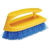 Rubbermaid Commercial Iron Handle Scrub Brush - 12 / Carton - Iron Handle, Plastic Block, Polypropylene - Navy Blue