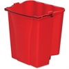 "Rubbermaid Commercial WaveBrake 18qt Dirty Water Bucket - 72 quart - Tubular Steel, Plastic - 14.1"" x 9.9"" - Red"