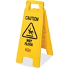 "Rubbermaid Commercial Caution Wet Floor Safety Sign - 6 / Carton - Caution, Wet Floor Print/Message - 11"" Width x 25"" Height - Rectangular Shape - Lightweight, Double-sided, Foldable, Flexible, Durabl"