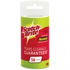 Scotch-Brite Lint Roller Refills - 56 Sheets/Roll - 12 / Carton - White