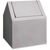 "RMC Freestanding Sanitary Disposal - Swing Lid - Rectangular - 11.5"" Height x 9.4"" Width x 9"" Depth - Metal - White"