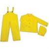 River City Three-piece Rainsuit - Recommended for: Agriculture, Construction, Transportation, Sanitation, Carpentry, Landscaping - Extra Large Size - Water Protection - Snap Closure - Polyester, Polyv