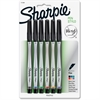 Sharpie Fine Point Pen - Fine Point Type - Assorted - 6 / Pack