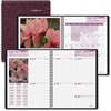 "At-A-Glance Floral Appointment Book - Julian - Weekly, Monthly - 1 Year - January 2017 till December 2017 - 1 Week, 1 Month Double Page Layout - 8.25"" x 10"" - Wire Bound - Burgundy - Address Directory"