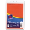 "Avery Color Coding Multipurpose Label - Removable Adhesive - 1"" Width x 3"" Length - Rectangle - Laser - Red - 200 / Pack"