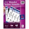 """Avery Binder Spine Insert - 1.50"""" Sheet - White - 25 / Pack"""