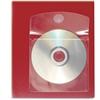 "Cardinal HOLDit! CD Disk Pocket - 5"" Height x 0.1"" Width x 5"" Length - 1 x CD/DVD Capacity - 5"" x 5"" Sheet - Ring Binder - Rectangular - Clear - Polypropylene - 10 / Pack"