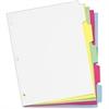 "Cardinal Write 'n Erase Tab Divider - 5 x Divider(s) - Write-on - 5 Tab(s)/Set - 9"" Divider Width x 11"" Divider Length - Letter - 8.50"" Width x 11"" Length - White - Multicolor Mylar Tab - 5 / Set"