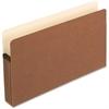 "Pendaflex Expanding File Pocket - Legal - 8 1/2"" x 14"" Sheet Size - 5 1/4"" Expansion - Manila, Red Fiber - Recycled"